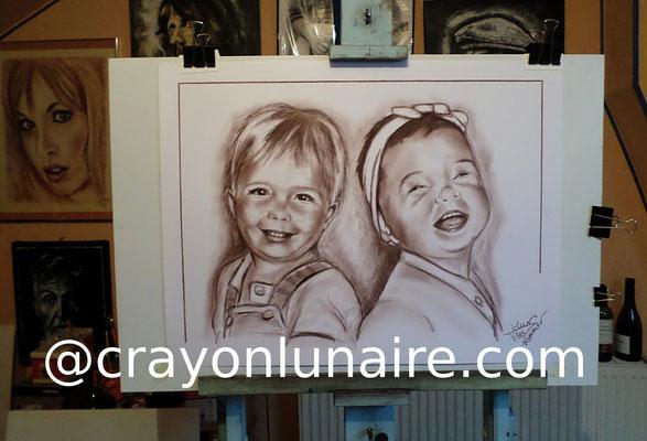 Portrait à la sépia par crayon lunaire