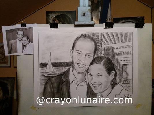 Portraits-jeune-couple-fusain