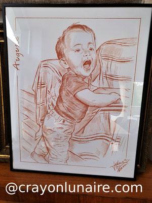 Enfant-portrait sanguine