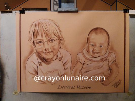Portraits-deux-soeurs-sanguine