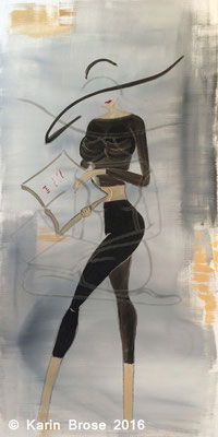 Reading woman, 50 x 100 cm