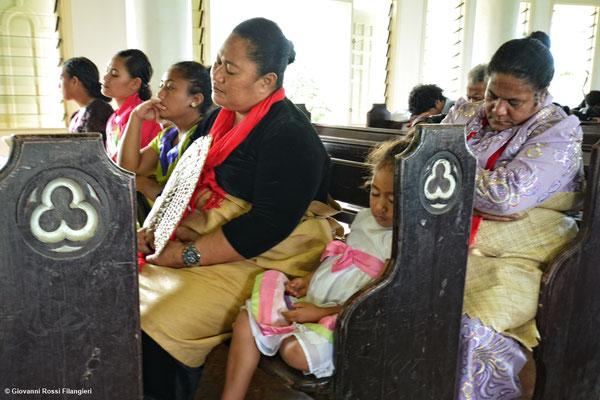 funzione domenicale a Hutungake