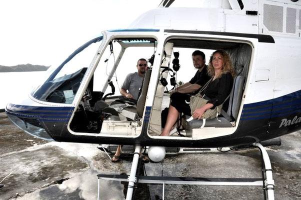 MICRONESIA in elicottero verso le rock islands