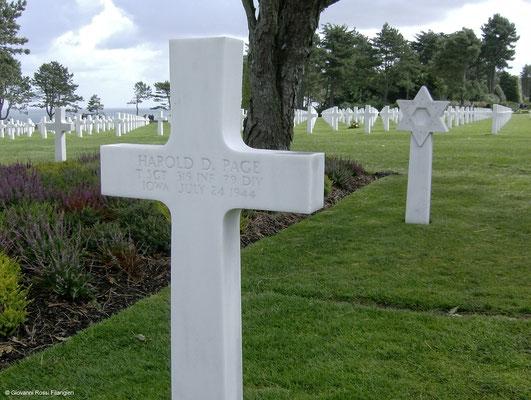 COLLEVILLE SUR MER Cimitero americano
