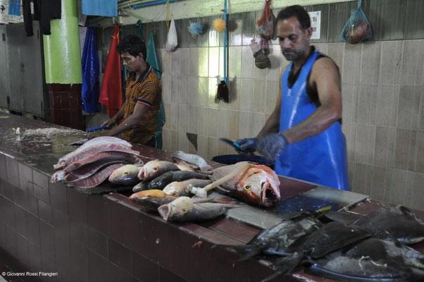 MALDIVE Mercato del pesce di Malè