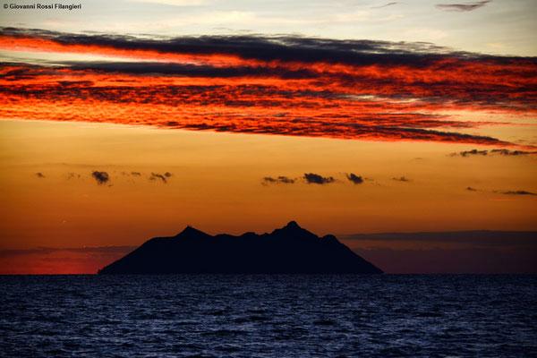 ITALIA tramonto sul Circeo