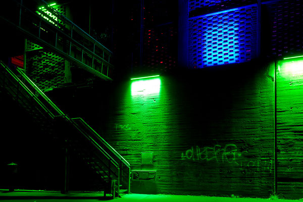 Treppe ins Grüne