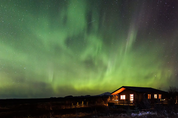 Hütte in grün