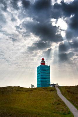 Noordertoren Leuchtturm eingerüstet (Schiermonnikoog) Niederlande