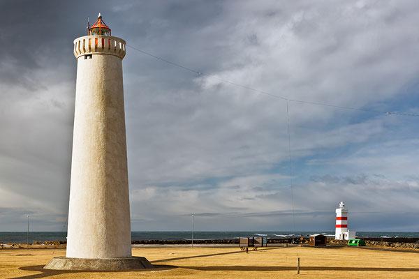 Alter und neuer Leuchtturm Garðskagi - Island
