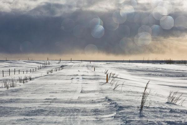 Schneesturm vorraus
