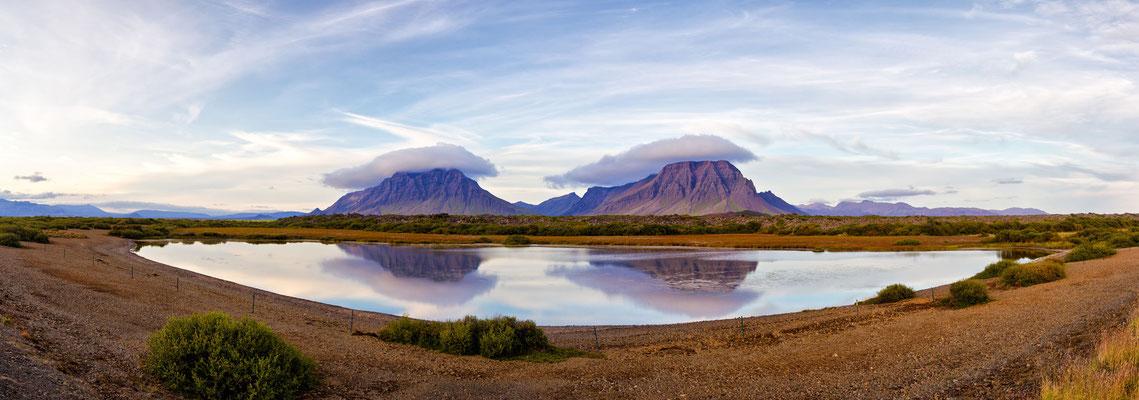 Wolken Hütchen - Island