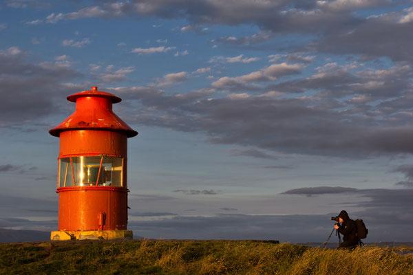 Leuchtturm Sugandisey von Stykkishólmur