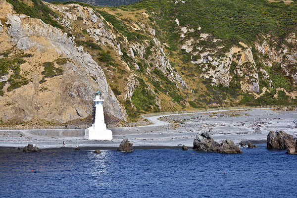 New Pencarrow Head lighthouse,Wellington, Neuseeland Nordinsel