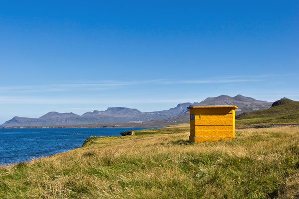 Leuchtturm vor Grundarfjörður - Island