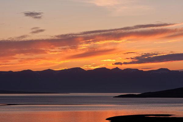 Sunset im Fjord