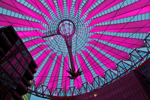 Sony Center @ night