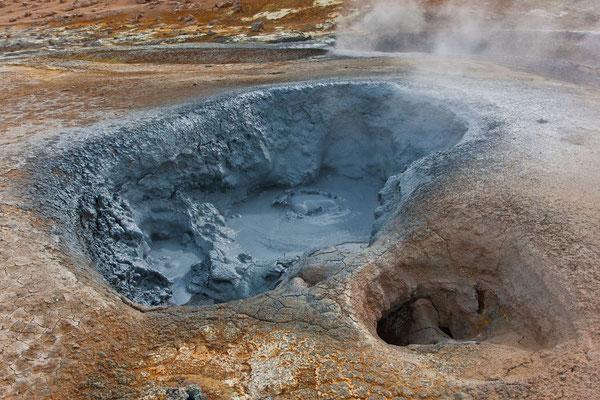 Heißes Schlammloch Namafjall-Gebiet