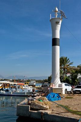 Leuchttturm antiker Hafen in Side  Türkei