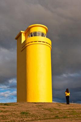 Leuchtturm bei Husavik - Island