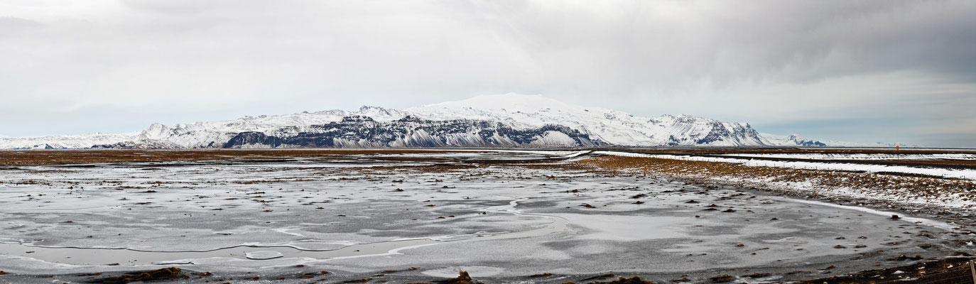 Blick auf die Westmännerinseln - Island