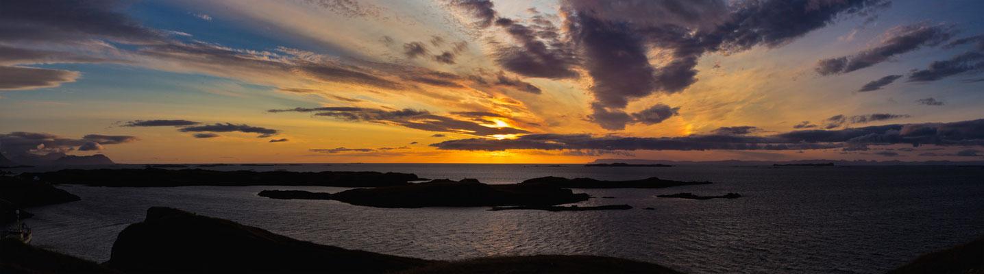 Sunset in  Stykkishólmur - Island