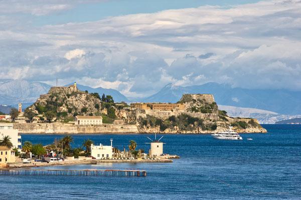 Blick auf Korfus alte Festung