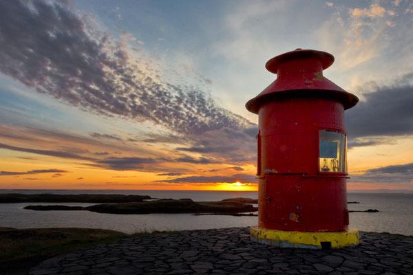 Leuchtturm Sugandisey von Stykkishólmur - Island