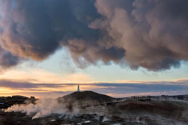 Leuchtturm Reykjanesviti - Island