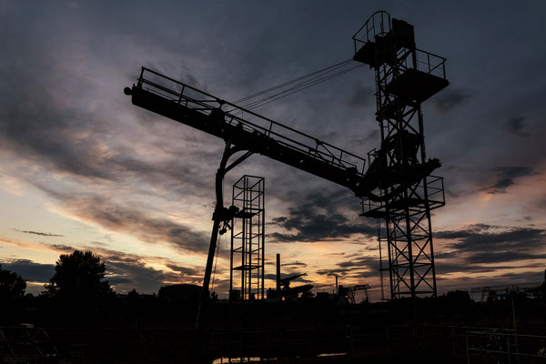 sunset im Hafen