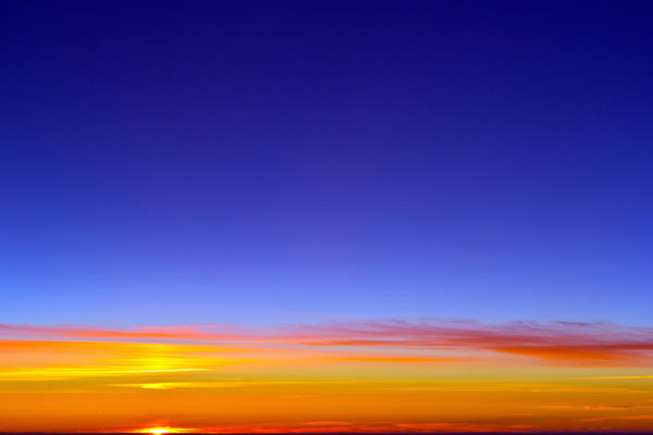 Blaue Stunde in Perfektion