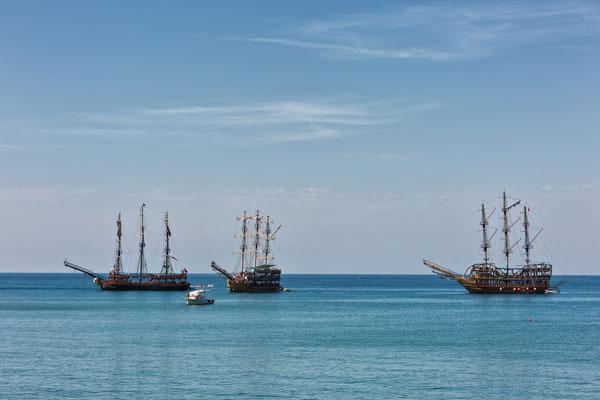 Piratenschiffe in sicht