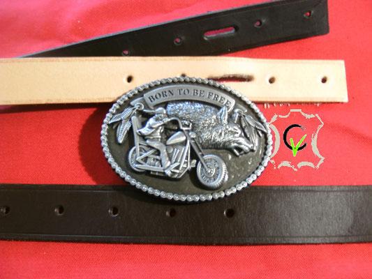 B5, boucle à piquot de 40mm métal chopper + loup