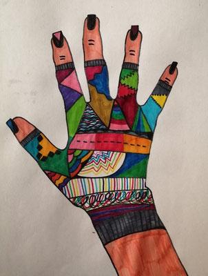 Bahar 6b - Mein fingerloser Handschuh