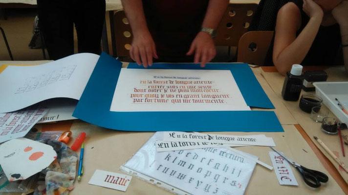 Le cadrage, très important pour mettre la calligraphie en valeur