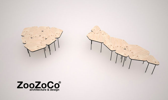 Amoeba table by ZooZoCo