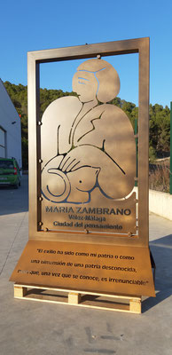 Maria Zambrano homenaje con Rafael Heredia