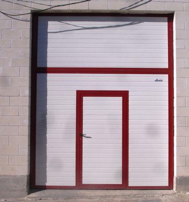 basculante blanca bastidor en rojo