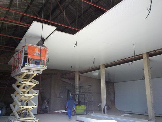 cerramiento de panel para adecuacion de interiores