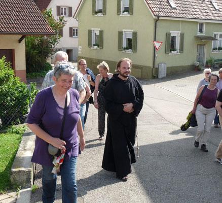 """Mit dem """"Mönch"""" geht es bei einer unserer Themenführungen durch Ebringen"""