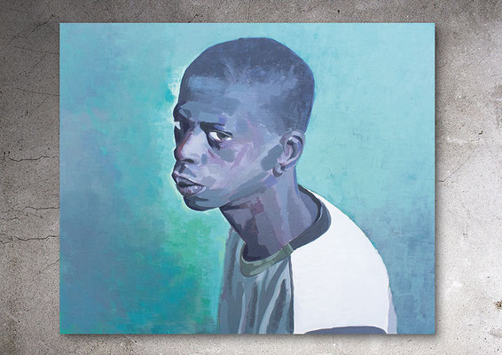 Battara, Acryl auf Canvas, 45 x 37 cm