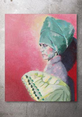 Madame Papillon, Acryl auf Canvas, 40 x 50 cm