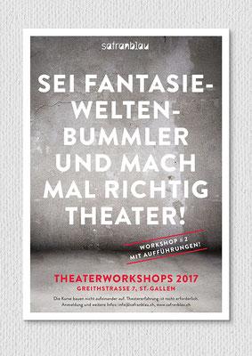 Theaterworkshop, Flyer A6, Vorderseite