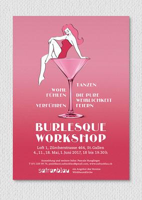 Burlesque-Workshop, Flyer A5