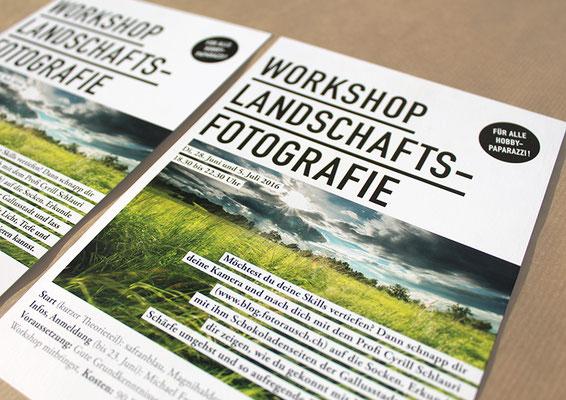 Workshop Landschafts-Fotografie, Flyer A5