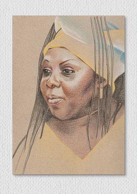 Fama, Farbstift auf Papier, 21 x 29 cm