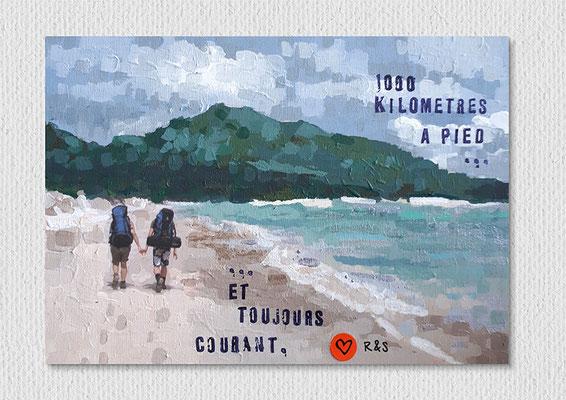 ohne Titel, Collage Foto, Acryl und Stempel auf Holz, 15 x 10 cm