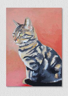 Pinta, Acryl und Farbstift auf Karton, 21 x 29 cm
