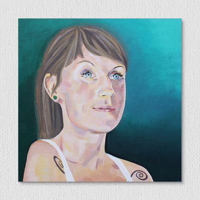 Nadja, Acryl auf Canvas, 30 x 30 cm