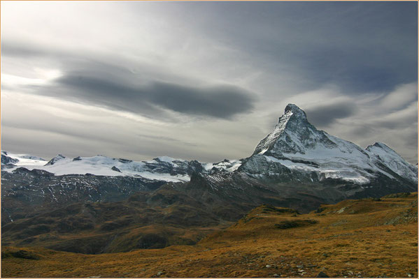 Matterhorn, gesehen von den Höbalmen, 12.10.2007